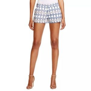 Joie Shorts 6 Merci Blue Lace Overlay Textured